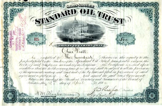 standard oil trust Company standard oil trust - john d rockefeller the standard oil company  was founded by john d rockefeller and partners in 1863, with the mission to.