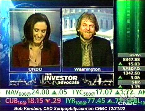 Bob Kerstein, CEO of Scripophily.com on CNBC 12/31/02