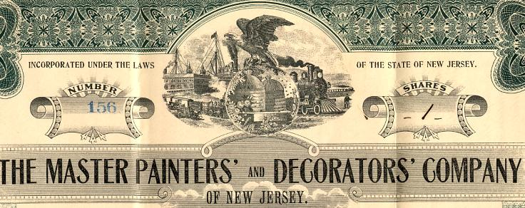 Master Painters' and Decorators' Company - New Jersey 1913