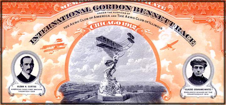 International Gordon Bennett Race dated in 1912