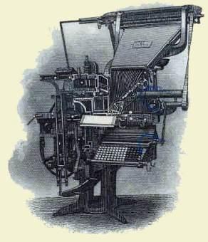 Mergenthaler Linotype Company (Vignette of a linotype