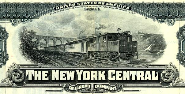 New York Central Railroad Company Uncancelled $1000 Gold