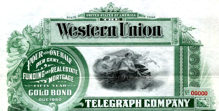 Western Union Telegraph Company - New York 1900
